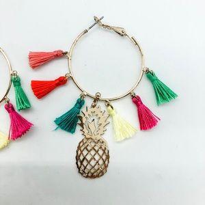 #BaubleBarForTarget mini-tassel hoop earrings